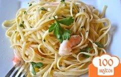 Фото рецепта: «Паста с креветками в чесночном соусе»