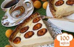 """Фото рецепта: «Творожный пирог с абрикосами """"Жирафик""""»"""