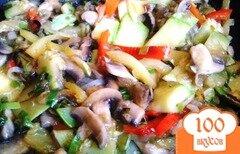 Фото рецепта: «Овощи и грибы в Воке»