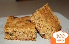 Фото рецепта: «Пирог с шоколадными чипсами»