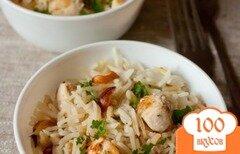 Фото рецепта: «Рисовый плов с курицей и миндалем»