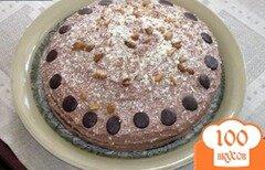 Фото рецепта: «Сметанный торт с кофейно-масленным кремом и арахисом»