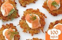 Фото рецепта: «Латкес с копченым лососем»