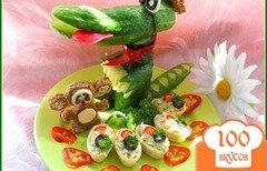 Фото рецепта: «Закуска «Подарки для крокодила Гены и чебурашки»»