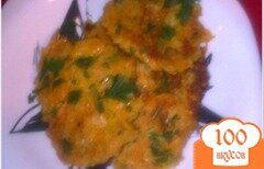 Фото рецепта: «яблочно-морковные оладьи»