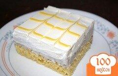 Фото рецепта: «Лимонный торт с черникой»