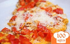 Фото рецепта: «Яичница со сладким перцем и сыром»