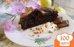 Фото рецепта: «Шоколадный торт с грушами»