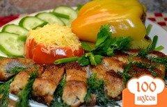 Фото рецепта: «Фаршированный перец и помидор грибами.»