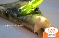 Фото рецепта: «Пицца со шпинатом и козьим сыром»