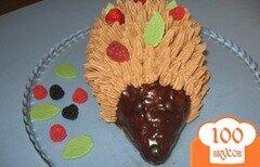Фото рецепта: «Бисквитный торт Ежик»