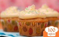 Фото рецепта: «Морковные кексы со сливочной начинкой»