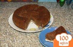 """Фото рецепта: «Шоколадно-творожный пирог """"Сюрприз""""»"""