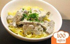 Фото рецепта: «Бефстроганов из говядины с грибами»