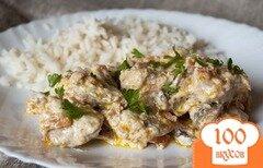 Фото рецепта: «Мясо в горшочках со сметаной»