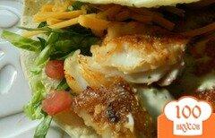 Фото рецепта: «Рыбные такос с кремом авокадо»