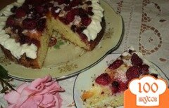 Фото рецепта: «Абрикосово-малиновый пирог.»