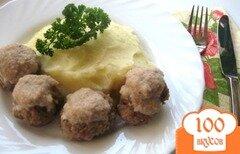Фото рецепта: «Тефтели с гречневым соусом»