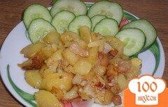 Фото рецепта: «Жареная картошка с салом»
