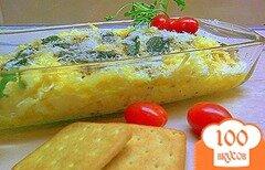 Фото рецепта: «Полента с сыром и чипсами из шалфея.»