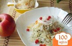 Фото рецепта: «Салат из квашеной капусты с яблоками»