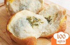 Фото рецепта: «Хлеб с сыром и зеленью»
