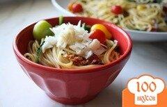 Фото рецепта: «Паста с беконом и овощами»