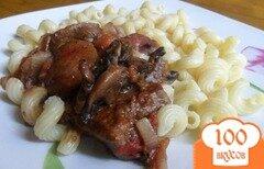 Фото рецепта: «Печень с грибами»