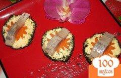 Фото рецепта: «Бутербоды (канапе) с сельдью»