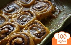 Фото рецепта: «Тыквенные роллы в горячей карамельной глазури»