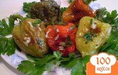 Фото рецепта: «Болгарский перец с чесноком и зеленью»