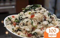 Фото рецепта: «Рис со шпинатом и сыром»