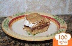 Фото рецепта: «Пирожные смоурс с шоколадом и зефиром»