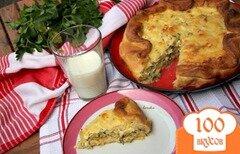 Фото рецепта: «Пирог с молодой капустой и зернистым творогом»