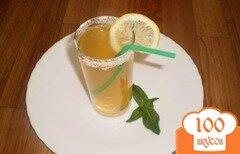 Фото рецепта: «Зеленый чай с лаймом и мятой»