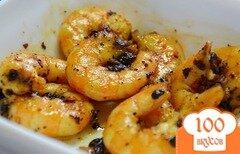 Фото рецепта: «Жареные креветки с луком»