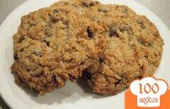 Фото рецепта: «Овсяное печенье с изюмом и кокосовой стружкой»