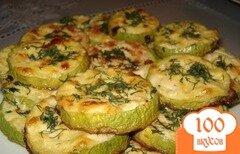 Фото рецепта: «Кабачки с чесноком в духовке»