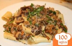 Фото рецепта: «Паста сливочная с грибами»