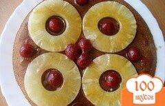 """Фото рецепта: «Пирог """"Карамельный ананас""""»"""