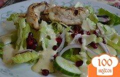 Фото рецепта: «Куриный кебаб с салатом»