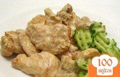 Фото рецепта: «Курица с грибами в сливках»