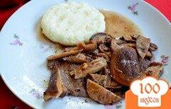 Фото рецепта: «Стейк в соусе из грибов шиитаке»