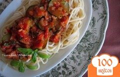Фото рецепта: «Спагетти с соусом из цукини и сардин»