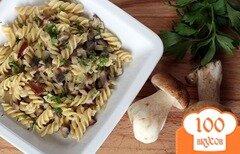 Фото рецепта: «Паста с белыми грибами»