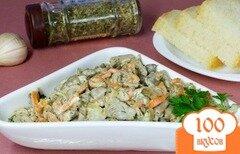 Фото рецепта: «Вешенки со сметаной»