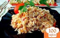 Фото рецепта: «Рис с овощами и тунцом»