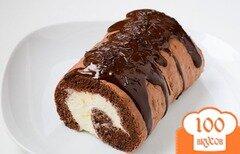Фото рецепта: «Шоколадный рулет»