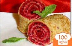 Фото рецепта: «Постные блины с десертной начинкой»
