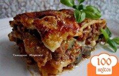 Фото рецепта: «Лазанья с мясным фаршем и овощами»
